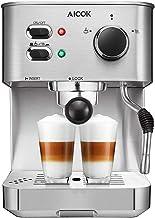 AICOK Espresso Machine, Cappuccino Coffee Maker with Milk Steamer Frother, 15 Bar Pump..