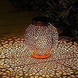 Lanterne Solaire Exterieur, Othran Marocaine Métal LED Lampe Lanterne...