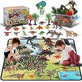DigHealth 33 Pcs Dinosaure Jouet, Figurine avec Tapis de Jeu D'activité et...