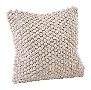 """Size: 20"""" x 20"""" Solid back Material: 100% cotton + Care: handwash Textured look, gives depth and dimension to any space. Creates a pop of color and fun style in any décor."""