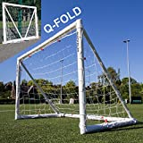 QuickPlay Q-Fold 12X6' | The 30 Second Folding Soccer Goal for Backyard [Single Goal] The Best Weatherproof Soccer Net for Kids and Adults – 2YR Warranty