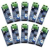 abcGoodefg 10pcs LM386 Audio Power Amplifier Module 200 Times Gain Amplifier Board Mono Power Amplifier for Arduino EK1236 HiFi DIY