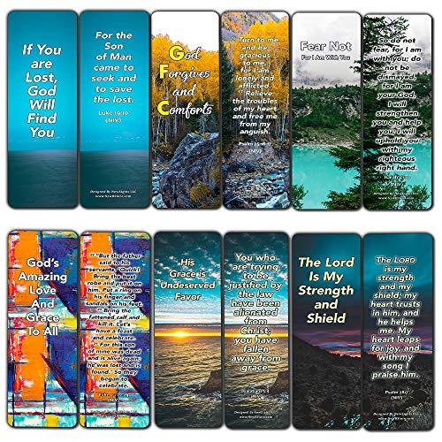 Lot de 12 marque-pages pour vous réconforter lorsque vous sentez vide et perdu – Collection de versets de Bible qui vous aideront à connaître votre but