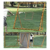 EZGoal Pro Lacrosse Folding Throwback Rebounder, Orange, 6'X6', 87091