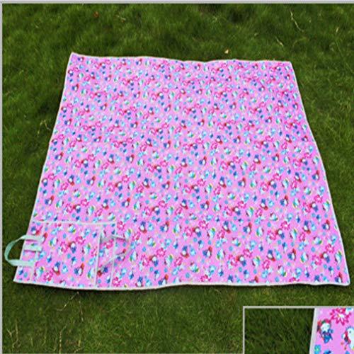 Q Tappeto Impermeabile Compatto da Campeggio Pieghevole per Picnic all'aperto - Rosa (100 * 150 cm)