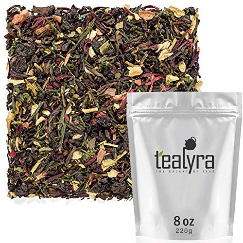 Tealyra - Fat Burner - Wellness weight-loss Tea Blend - Pu Erh Aged with Sencha Green Tea and Wu-Yi Oolong - Diet Refreshing - Natural Ingredients - Healthy - Detox Loose Leaf Tea - 220g (8-ounce) 1