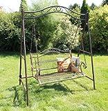 Hollywoodschaukel Metall Antik 2 Sitzer Gartenschaukel Schaukel Garten Schmiedeeisen - 4