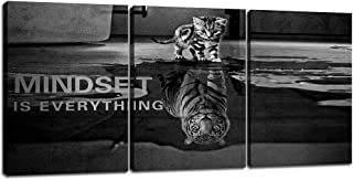 3 Panels Mindset is Everything Motivational Canvas Wall Art Inspirational Entrepreneur..