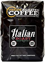 Fresh Roasted Coffee LLC, Italian Roast Espresso Coffee, Artisan Blend, Dark Roast, Bold..