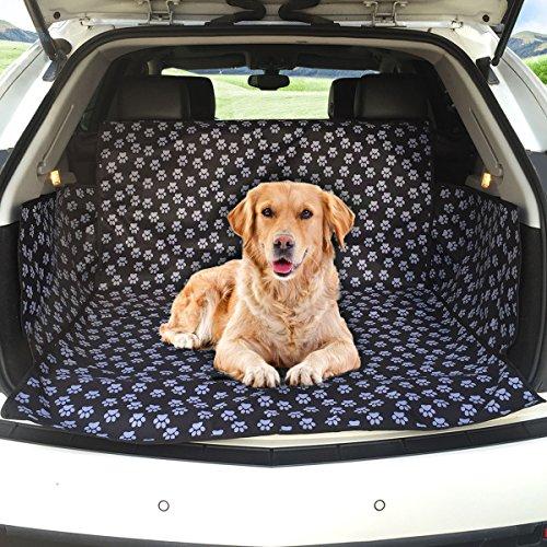 Kofferraumschutz Hunde MATCC Auto Hundedecke Wasserdicht Hunde Schutzdecke Auto Hundedecke Kofferraum Schutzdecke Auto Hund Kofferraumdecke Mit Seitenschutz Auto Kofferraumschutzdecke (104*155*33cm)