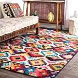 nuLOOM Ritzy Contemporary Retro Area Rug, 5' x 8', Multi