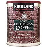 Signature 100% Colombian Coffee Supremo Bean Dark Roast-Fine Grind, 3 Pound - PACK OF 2