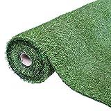 GardenKraft Gazon Artificiel 26079 4 m x 1 m 15 mm Fibres Pelouse de Jardin synthétique Haute densité, Vert foncé
