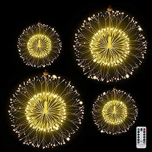 Luci Fatate Natalizie 408 LED Luci Fuochi d'Artificio USB Luce Fata Luce Stringa 5M Catena Luminosa (3M Cavo Prolunga), 8 modalit di illuminazione Decorative Giardino, Natale, Feste, Matrimonio