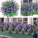 Awtlife Lot de 15 bouquets de fleurs artificielles pour extérieur -...