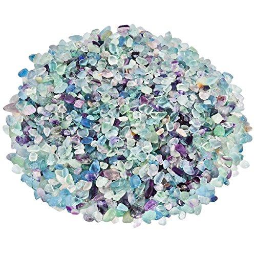 SUNYIK Fluorite Tumbled Chips Stone Crushed Crystal Quartz...