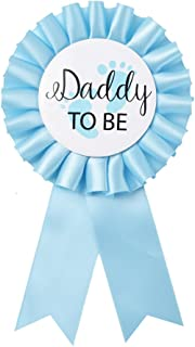 """""""Daddy to Be"""" Tinplate Badge Pin – Baby Shower Button New Dad Gifts.."""
