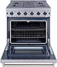 Thor Kitchen 30 inch Freestanding Pro-Style Professional Gas Range with 4.55 cu.ft. Oven,..