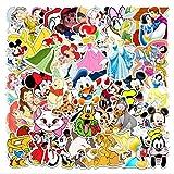 WOCAO Pegatina Mickey Mouse Blancanieves Equipaje Piano Coche Bicicleta Graffiti Pegatina Impermeable 56 Uds