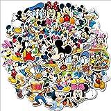 Later Mickey Minnie Pegatina de Dibujos Animados Lindo Mickey Mouse Pegatina Impermeable Equipaje portátil refrigerador Pegatina para niños 50 Uds