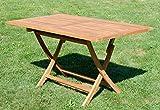 ASS ECHT Teak Holz Klapptisch Holztisch Gartentisch Tisch in verschiedenen Größen - 2