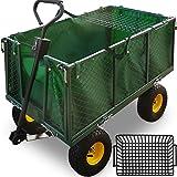Deuba - Remorque de transport 4 roues • chariot avec bâche amovible et panier...