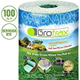 Grotrax Biodegradable Grass Seed Mat, Bermuda Rye - 100 Square Feet Big Roll - All in One Growing Solution for Lawns, Dog Patches and Shade - Just Roll Water & Grow - Not Fake or Artificial Grass
