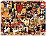 Educa Borras - Genuine Puzzles, Puzzle 1.000 piezas, Collage Cerveza Vintage (17970)