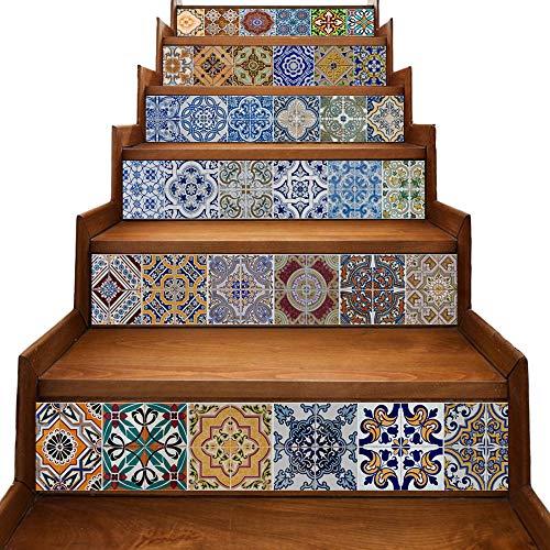 yazi Stair Stickers Decals Peel and Stick Viny Tile Backsplash Stair...