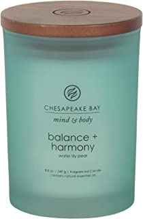 Chesapeake Bay Candle Scented Candle, Balance + Harmony (Water Lily Pear), Medium