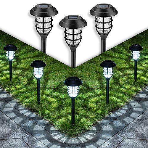 GIGALUMI Solar Pathway Lights Outdoor, 8 Pcs Solar Powered Yard...