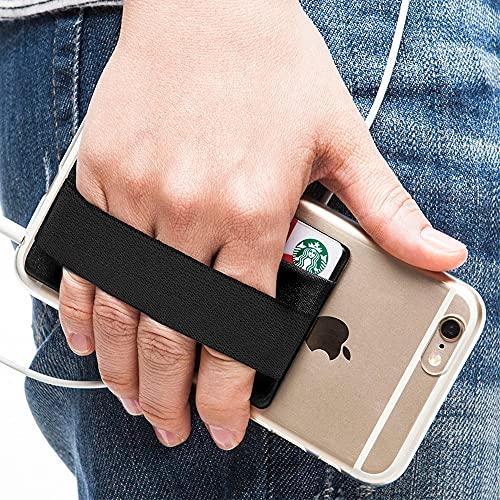 Sinjimoru Phone Grip con Tarjetero para teléfono, Stick on Phone...