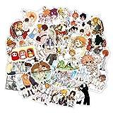 Anime japonés The Promised Neverland Pegatinas para portátil Motocicleta monopatín Ordenador teléfono móvil Dibujos Animados Toy50 unids/Pack