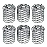Kraftex Black 6pk Gutter Guards Leaf Filter Gutter Strainer & Downspout Guard - Better Than Roof Screen - Mesh Leaf Guards with Up to 4in Diameter - Gutter Drain Cover & Down Spout Rain Protector