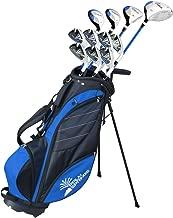 "Palm Springs Golf VISA Mens +1"" TALL GRAPHITE & STEEL Club Set & Stand Bag"