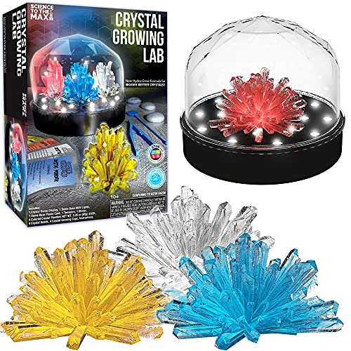 Science Kit For Kids Crystal Growing Kit + Light Up Display...
