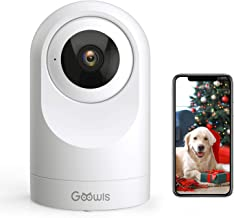 WiFi Camera Indoor, Goowls Home Security Pet Dog PTZ 2.4GHz 1080P Wireless IP Camera for..