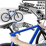 MEOLLO Support Mural de Rangement pour vélo (100% Acier) (Noir,...
