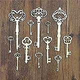 33 miniaturas de madera llaves antiguas para decorar libro de recortes scrapbooking de fotografias...