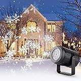 Lovebay Projecteur Flocon de Neige Lumières, LED Projecteur Noel...