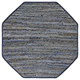 Earth First Blue Jeans (10'x10') Octagon Rug, 4x4' Octagon