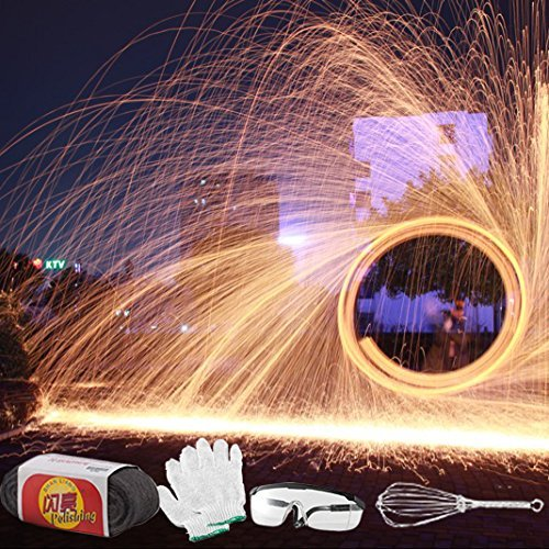 Selens Photography Props Steel Wool Fireworks for Light Painting...