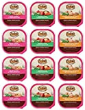 Nutro Canned Small Breed Adult Dog Food 3 Flavor Variety Bundle: (4) Tender Chicken & Whole Brown Rice, (4) Roast Turkey & Vegetable and (4) Savory Lamb & Vegetable, 3.5 Oz Each (12 Trays Total)