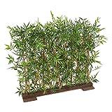 Flore Office Bambou Artificiel Japanese PLAST HAIE Dense UV (90 cm) Haut de Gamme Fausse Plante Bambou EXTÉRIEUR/INTÉRIEUR Nouveautés