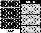 56pcs High Visibility Warning Reflective Stripes Arrows Stickers Bike Decals Black Reflector Highly Night Safety Sign Visibility Universal Self - Adhesive D 50