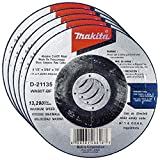Makita 5 Pack - 4.5' Cut Off Wheels For Grinders - Flush Cutting For Stainless Steel & Metal - 4-1/2' x .045 x 7/8-Inch