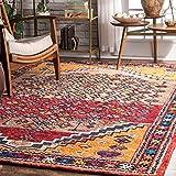 nuLOOM Persian Bohemian Jana Wool Rug, 6' x 9', Multi