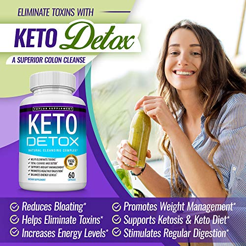 Keto Detox Pills Advanced Cleansing Extract – 1532 Mg Natural Acai Colon Cleanser Formula Using Ketosis & Ketogenic Diet, Flush Toxins & Excess Waste, for Men Women, 60 Capsules, Toplux Supplement 5