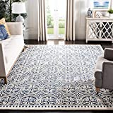 Safavieh Cambridge Collection CAM123G Handmade Wool Area Rug, 8' x 10', Navy Blue/Ivory