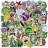 FENGLING Pegatinas de Animales de Dibujos Animados de Anime, monopatín Impermeable, Maleta de Viaje, teléfono, Ordenador portátil, Pegatinas para Equipaje, Lindos Juguetes para niños y niñas, 50 Uds.